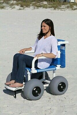 Beach Wheelchair - Large Balloon Tires - Easy Transport