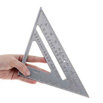 "7"" Woodworking Triangle Right Angle Ruler Protractor Framing Carpenter Aluminum"