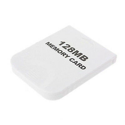 128MB Memory Card for Nintendo Wii Gamecube GC Game White H1Q2