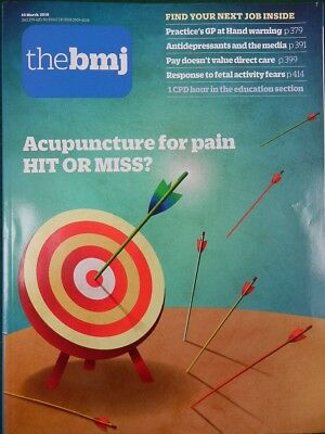 Bmj British Medical Journal 10 March 2018 Acupuncture For Pain
