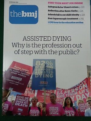 Bmj British Medical Journal 10 February 2018 Assisted Dying