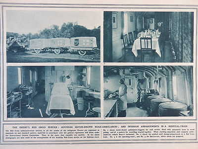 1916 Austrian Red Cross Ambulance & Hospital Train; Verdun Wiring Party Wwi Ww1