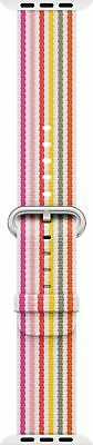 Genuine Apple Woven Nylon Band for Apple Watch 42mm (Pink Stripe) - VG - In Box