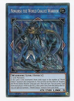 Ningirsu the World Chalice Warrior MP18-EN068 Secret Rare Yu-Gi-Oh Card 1st