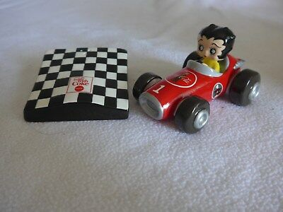 Betty Boop Coca-Cola Racing Car Salt & Pepper Shaker Set 2000