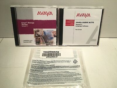 Avaya Intuity AUDIX IA770 R4.0 & Message Manager R5.1 Software