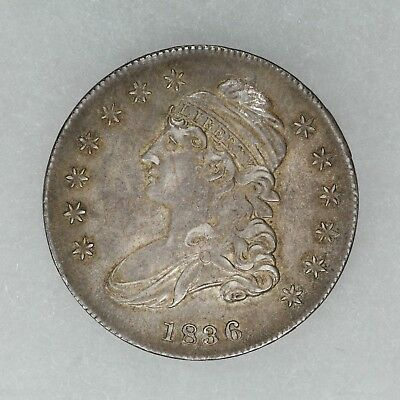 1836 Capped Bust Half Dollar 50C Choice Au ++ About Uncirculated Plus (5848)