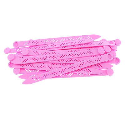 Vintage Hair Curler Picks Plastic for Rollers Curlers Long Style 20pcs