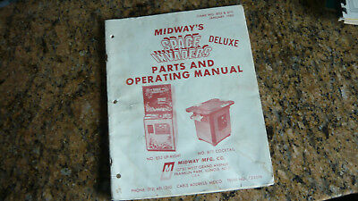 Original 1980 Midway Space Invaders Deluxe  Arcade Video Game  Manual & Drawings