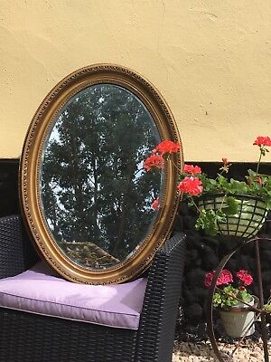 Edwardian Gilt Framed Mirror, Bevelled Mirror, Beautifully Aged Mirror Plate and