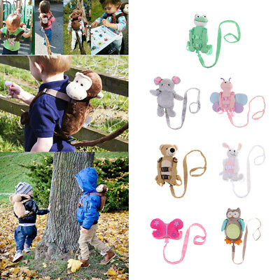 Cartoon Plush Animal Toddler Kids Safety Harness Strap Bag Backpack with Reins