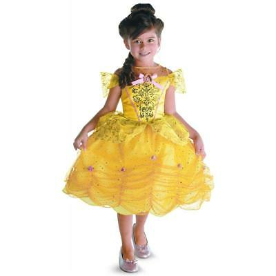 """Disney Princess """"BELLE"""" Girl/Child Dress Costume Beauty and the Beast M 7-8 NEW"""