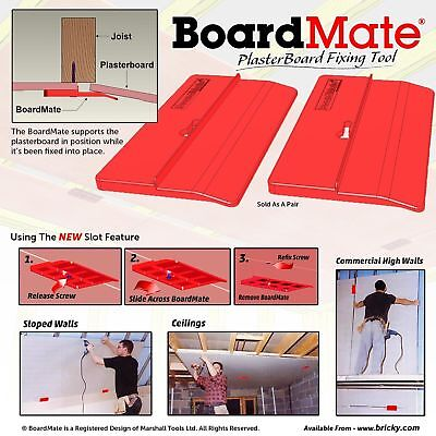 BoardMate- Drywall Installation Tool, Supports The Board In Place While Securing