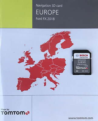 FORD FX NAVI SD Card MAP EUROPE 2018