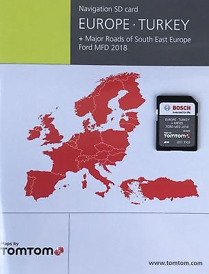FORD MFD NAVIGATION SD Card MAP WESTERN EUROPE 2018