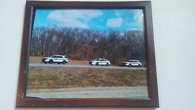"""PENNSYLVANIA STATE POLICE TROOPER Ford Sedan SUV Picture """"Traffic Stop"""" PSP"""