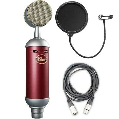 Blue Spark SL Studio Condenser Mic w/ AxcessAbles Mic Pop Filter and Audio Cable