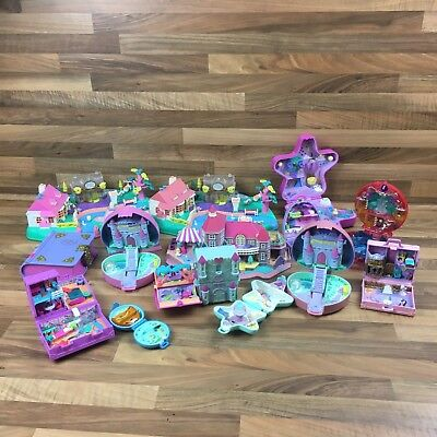 16 Vintage Polly Pocket Play Set Compacts Bundle Used Condition Sold As Spares