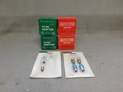 Department 56 Lot Of 4 Adapters & 3 Bulbs  Village Accessories
