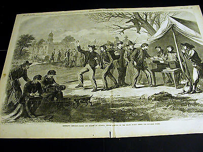 Civil War SHERMAN'S MARCH ACROSS ATLANTA Paying Soldiers 1864 Large Folio Print