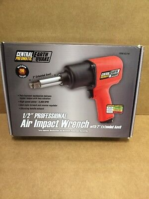 """Central Pneumatic 62746 1/2"""" Air Impact Wrench W/ 2"""" Extended Anvil"""