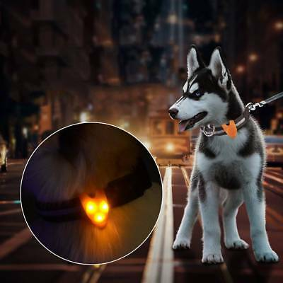 Silicone LED Pet Luminous Pendant Cat Tags Dog Necklace Glowing Collar Light