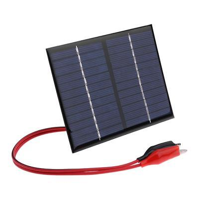 1.5W 12V Solar Panel Cell Polysilicon Flexible DIY Power Battery Charger w/ Clip