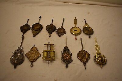 Box Lot 8. 12 Pendulums With One Very Expensive Compensated All Hard To Find