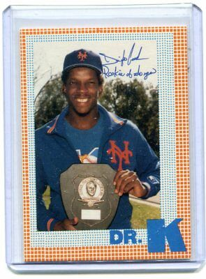 "1986 Dwight Gooden ""DOC"" Cy Young Winner 1985 Dr. K Puzzle Back Cards Set"