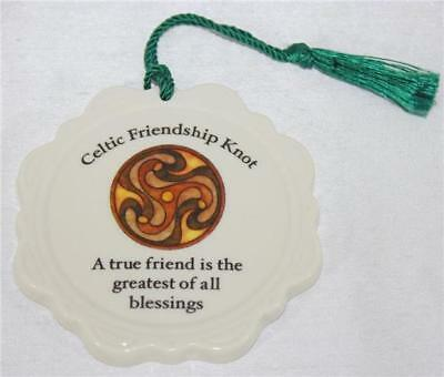 Donegal by Belleek Celtic Friendship Knot Christmas Ornament A True Friend Is...