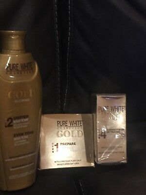 PURE WHITE GOLD GLOWING LOTION 250ml serum 50ml & soap