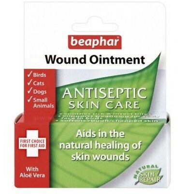 Beaphar Wound Ointment Antiseptic Skin Care.For Birds, Cats, Dogs, Small Animals