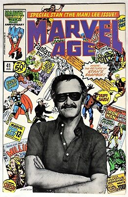 S094. MARVEL AGE #41 Marvel Comics 7.5 VF- (1986) STAN LEE COVER & INTERVIEW ;