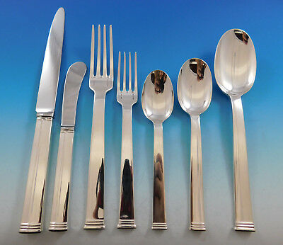 Commodore Christofle France Sterling Silver Flatware Set 12 Service 86 pc Dinner