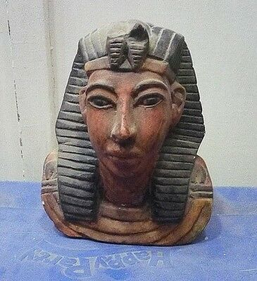 ANCIENT EGYPTIAN ANTIQUE TUTENKH HEAD OF TUTANKHAMUN Limestone 1332-1323 BC