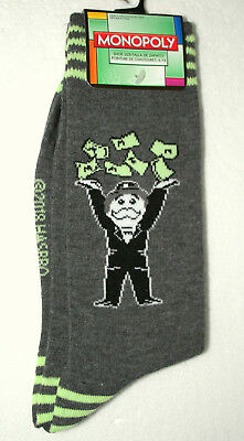 Unique Mr Monopoly Game Making it Rain Hasbro New Pair Socks French? Fits 6-12