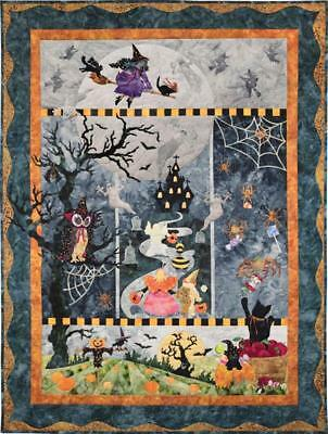 Once in A Boo Moon Halloween Mckenna Ryan Pine Needles Quilt 5 Muster Set
