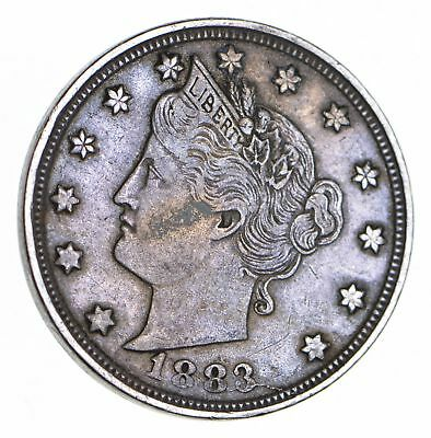 1883 'NO Cent' Liberty V Nickel - Tough - First Year Issue *230