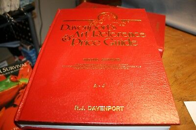 Davenport's Art Reference & Price Guide A-J and K-Z