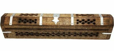 Handmade Wooden Incense Holder Stand Home Decor Fragrance Relax - Antique Metal