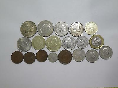 Kingdom Of Jordan Fils Dinars Qirsh Mixed Type Old World Coin Collection Lot