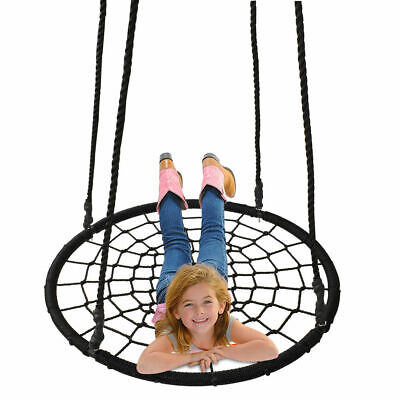 "40"" Tire Spider Web Swing 71"" Nylon Rope Swivel Tree Net Assembled Adjustable"
