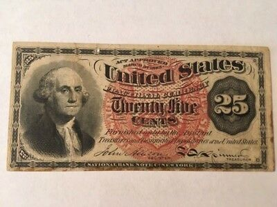 1863 Fractional Currency 25 Cent Fourth Issue