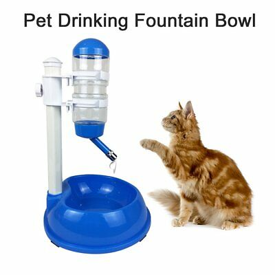 Automatic Water Food Pet Cat Dog Feeder Self Feeding Dish Bowl Dispenser UP