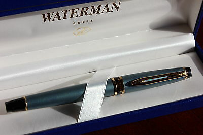 Waterman  Expert Slate Blue  Rollerball Pen New In Box  Very Rare