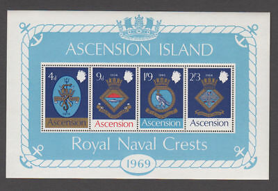 Ascension - 1969 Royal Navy Crests S/S. Sc.#129a, SG#MS125. Mint NH