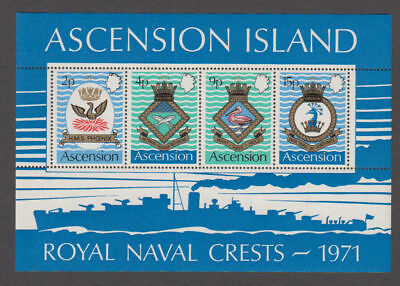 Ascension - 1971 Royal Navy Crests S/S. Sc.#155a, SG#MS153. Mint NH