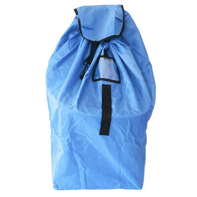 Durable Car Seat Travel Gate Check Bag for Airplane Protective Pouch Blue