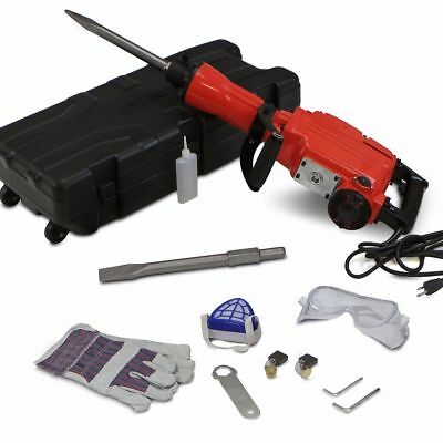 3600W Electric Demolition Hammer Concrete Breaker Full Set 110v USA KJ