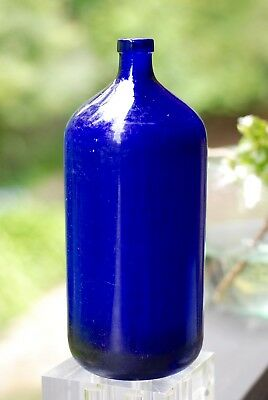 Antique Large Heavy Apothecary  Cobalt Blue poison bottles  19th Cent.